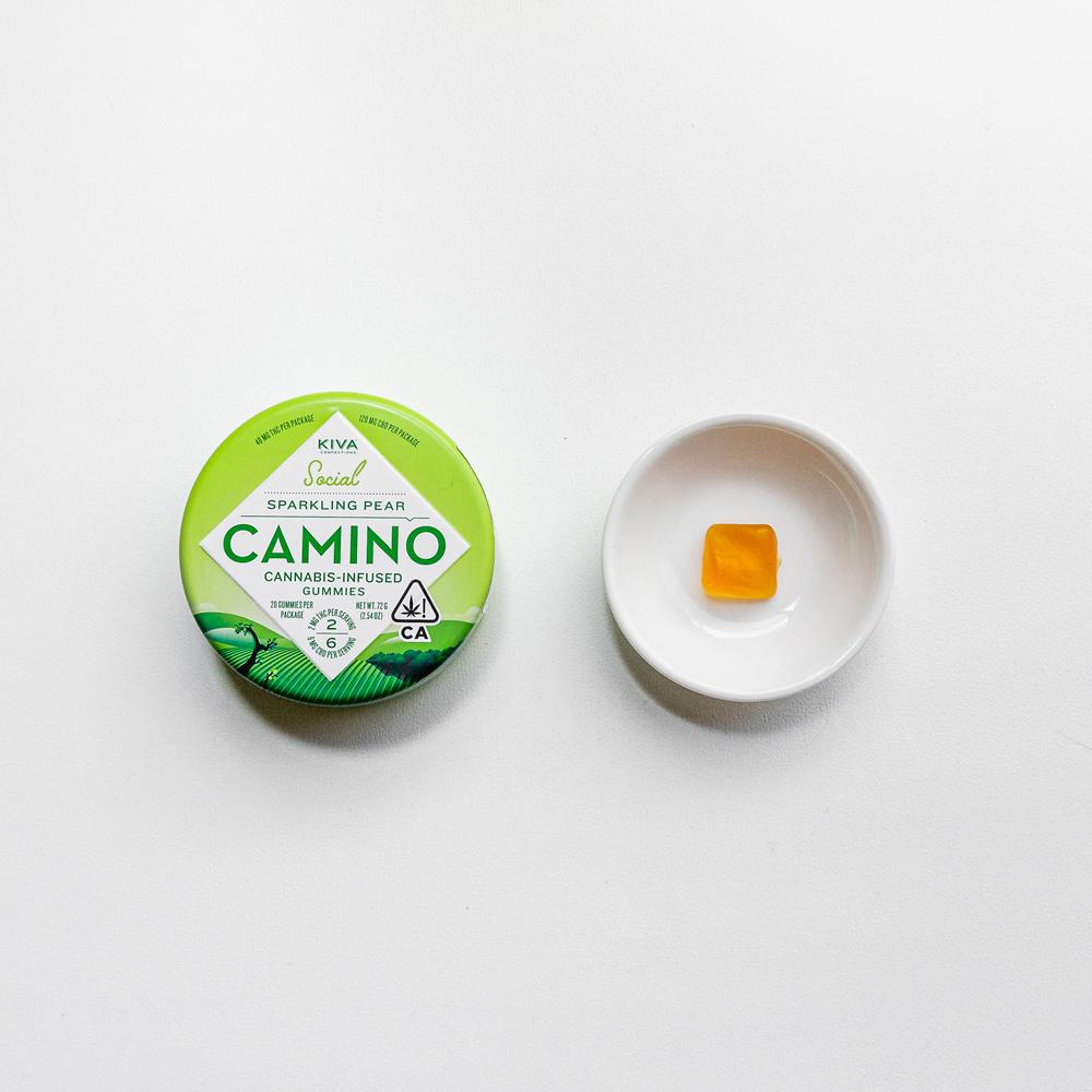 Kiva Camino Cannabis Gummies Sparkling Pear