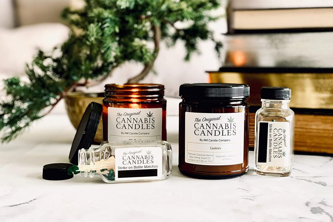 CBD infused candles