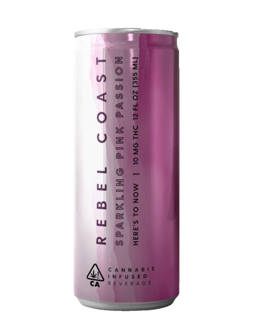 Rebel Coast Pink Passion Cannabis Infused Drink