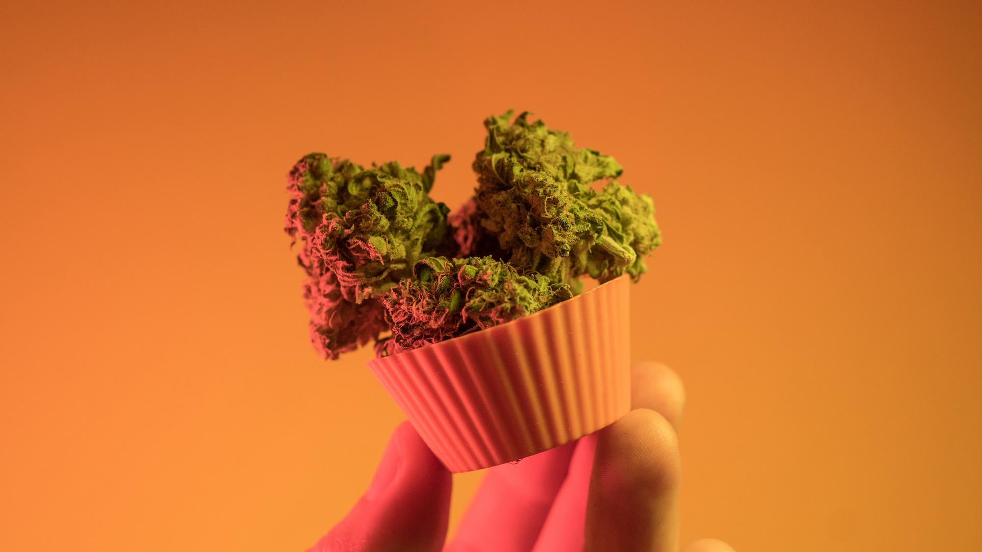 Marijuana edible cupcake