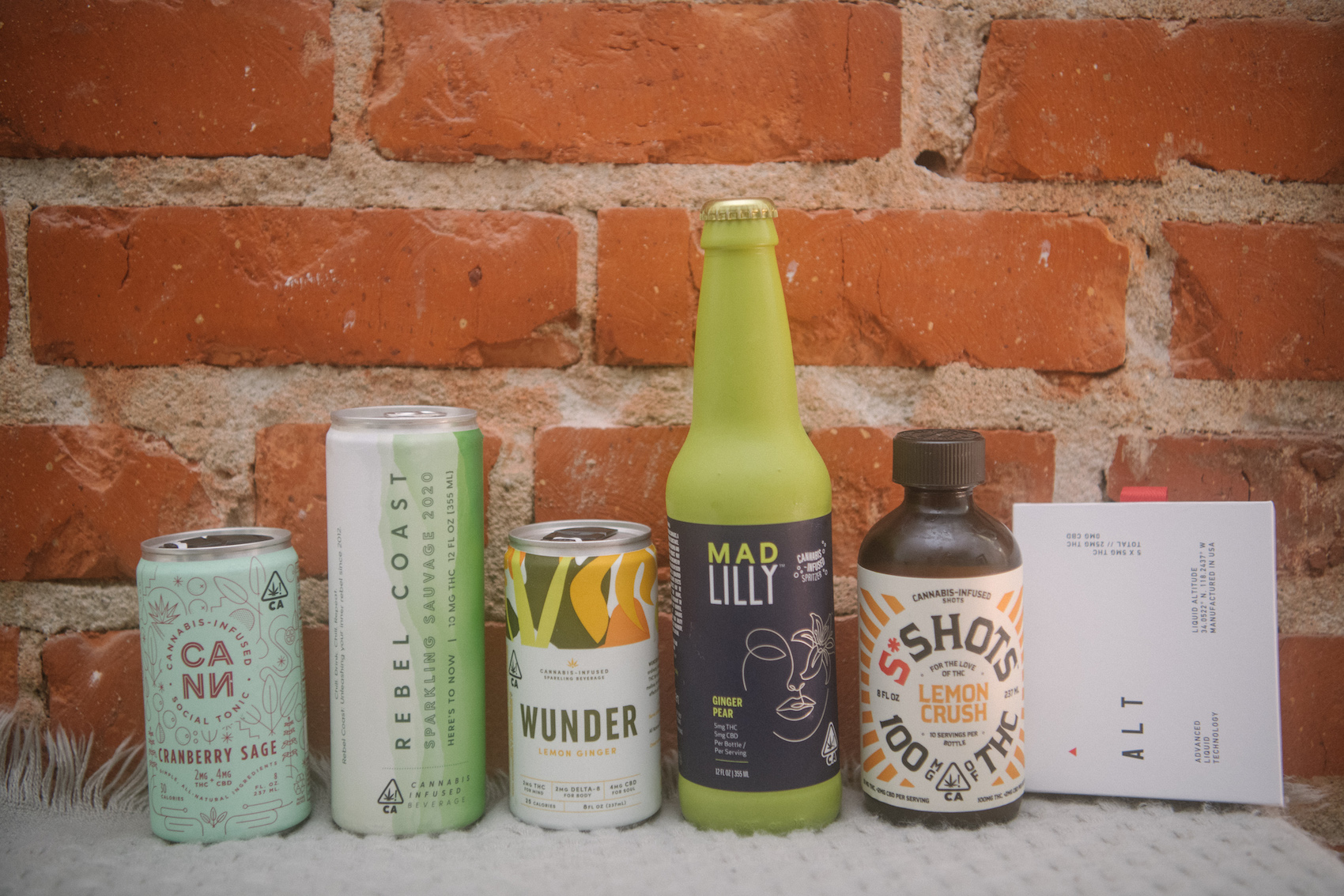 Popular THC drinks and beverages