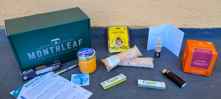 MonthLeaf weed subscription box review